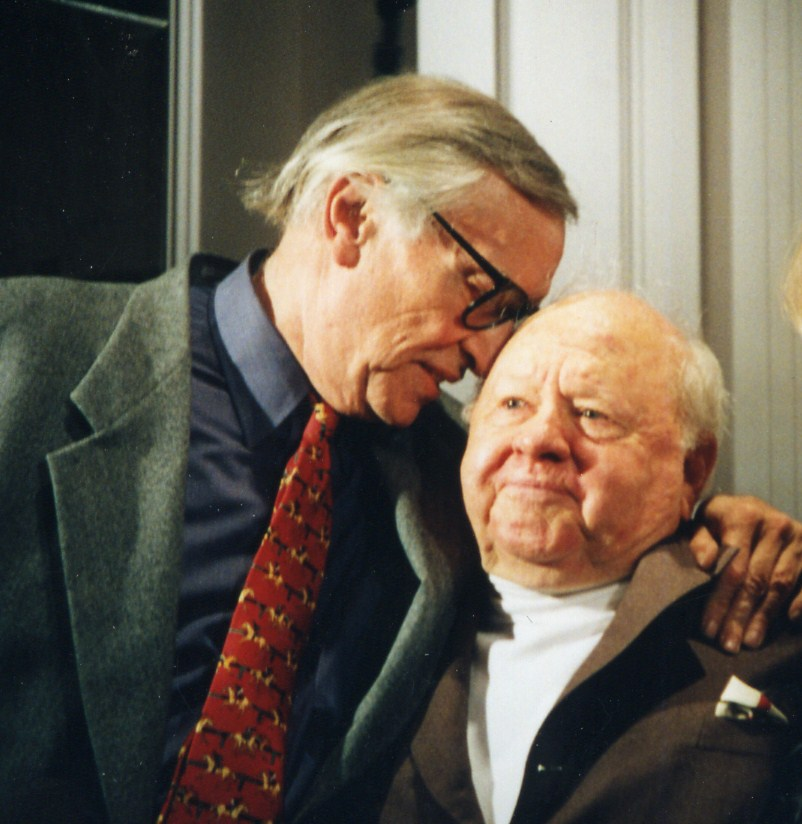 Mickey Rooney and Martin Landau