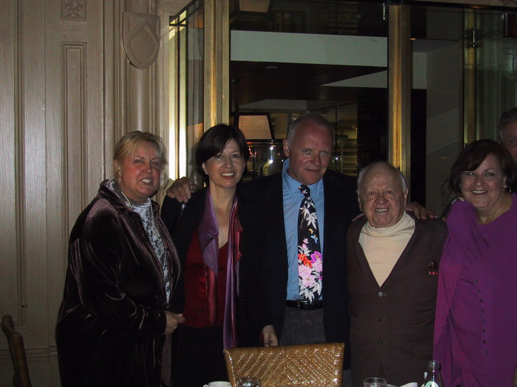 Jan Rooney, Jan Hopkins, Anthony Hokins and Mickey Rooney